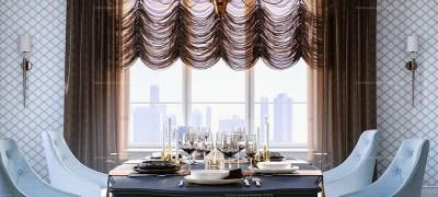 Французские шторы – изысканная роскошь, скрытая за полукруглыми пышными фестонами. Пошаговый мастер-класс по пошиву