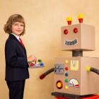 Костюм робота-трансформера  для новогоднего праздника. Можно делать вместе с ребенком
