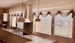 Французские шторы на кухне. Предпочтительные материалы, советы по оформлению, 105 фотографий