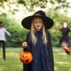Детский костюм очаровательной ведьмочки на Новый год и тематический праздник. Мастер-класс по пошиву наряда с плиссировкой
