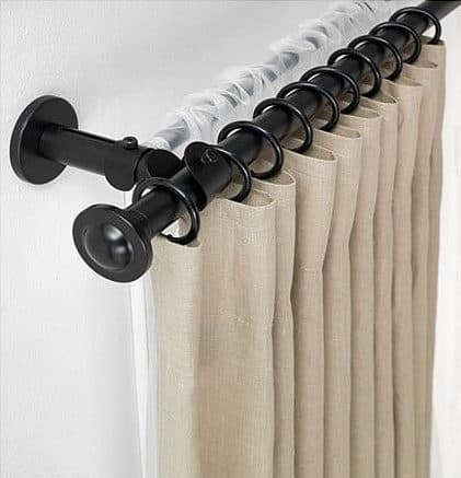 Как повесить и снять шторы на люверсах. Советы по расчету колец и выбору карниза