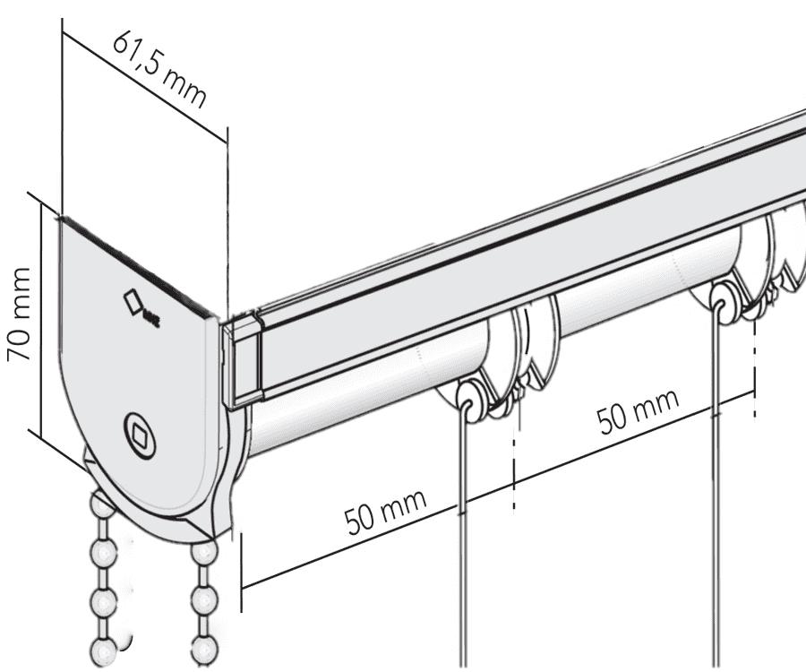 Чертеж шторы с механизмом мини
