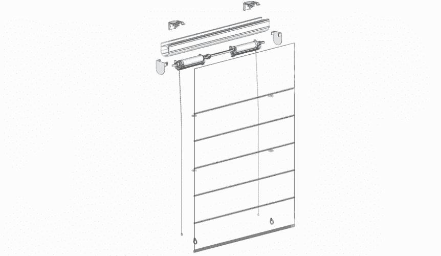 Схема пружинной шторы