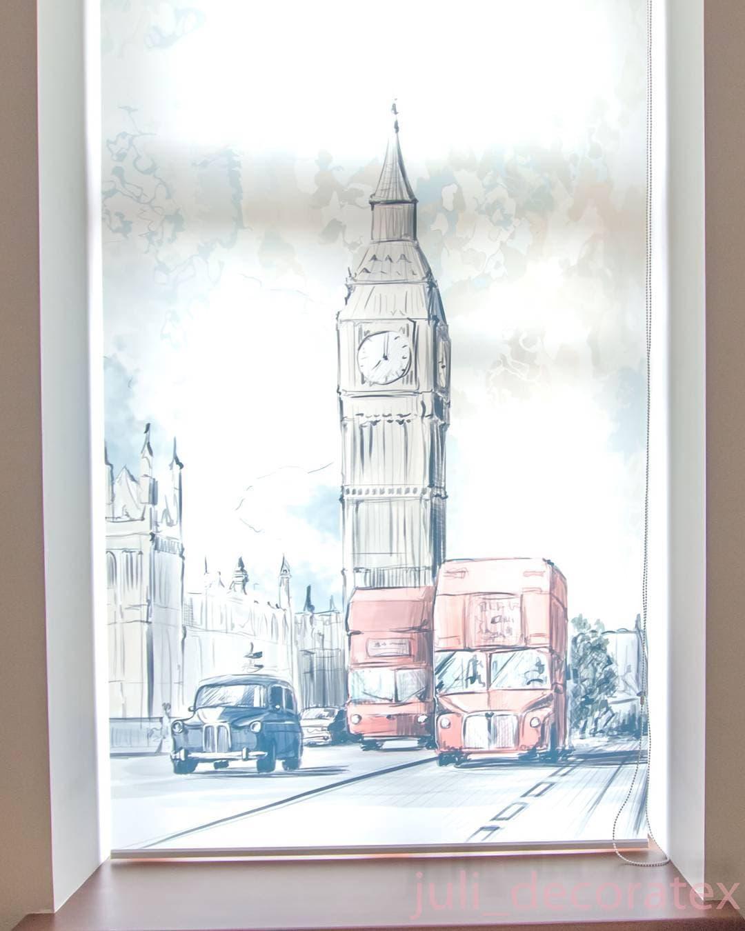 Рулонная штора с изображением Лондона