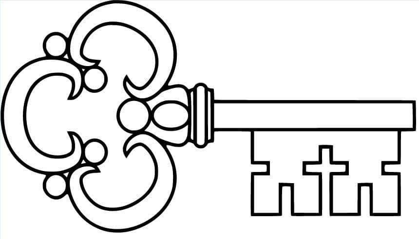 Выкройка ключа