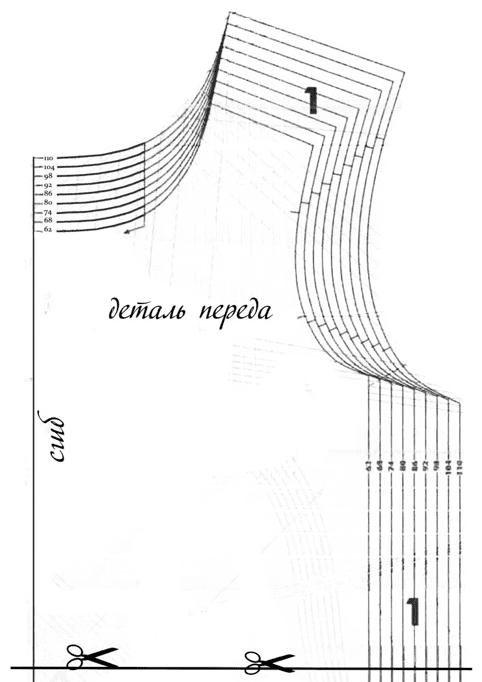 Схема выкраивания платья