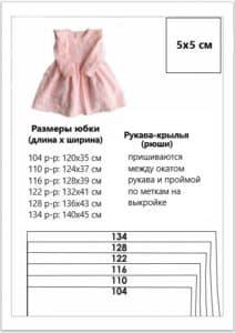 Выкройка платьишка