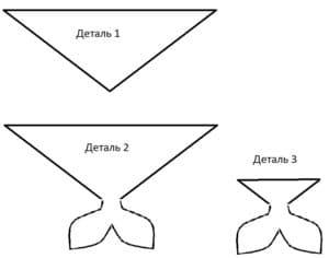 Выкройка хвоста для костюма русалки